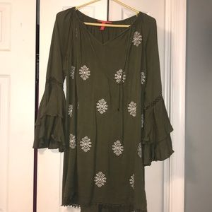 Olive green Chelsea and Violet dress
